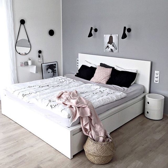 how beautiful the home of my awesome friend klara aka kajastef is check bedroom. Black Bedroom Furniture Sets. Home Design Ideas