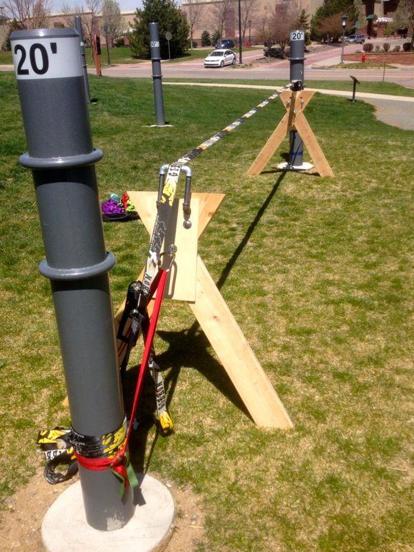 Image Result For Slackline To A Pole