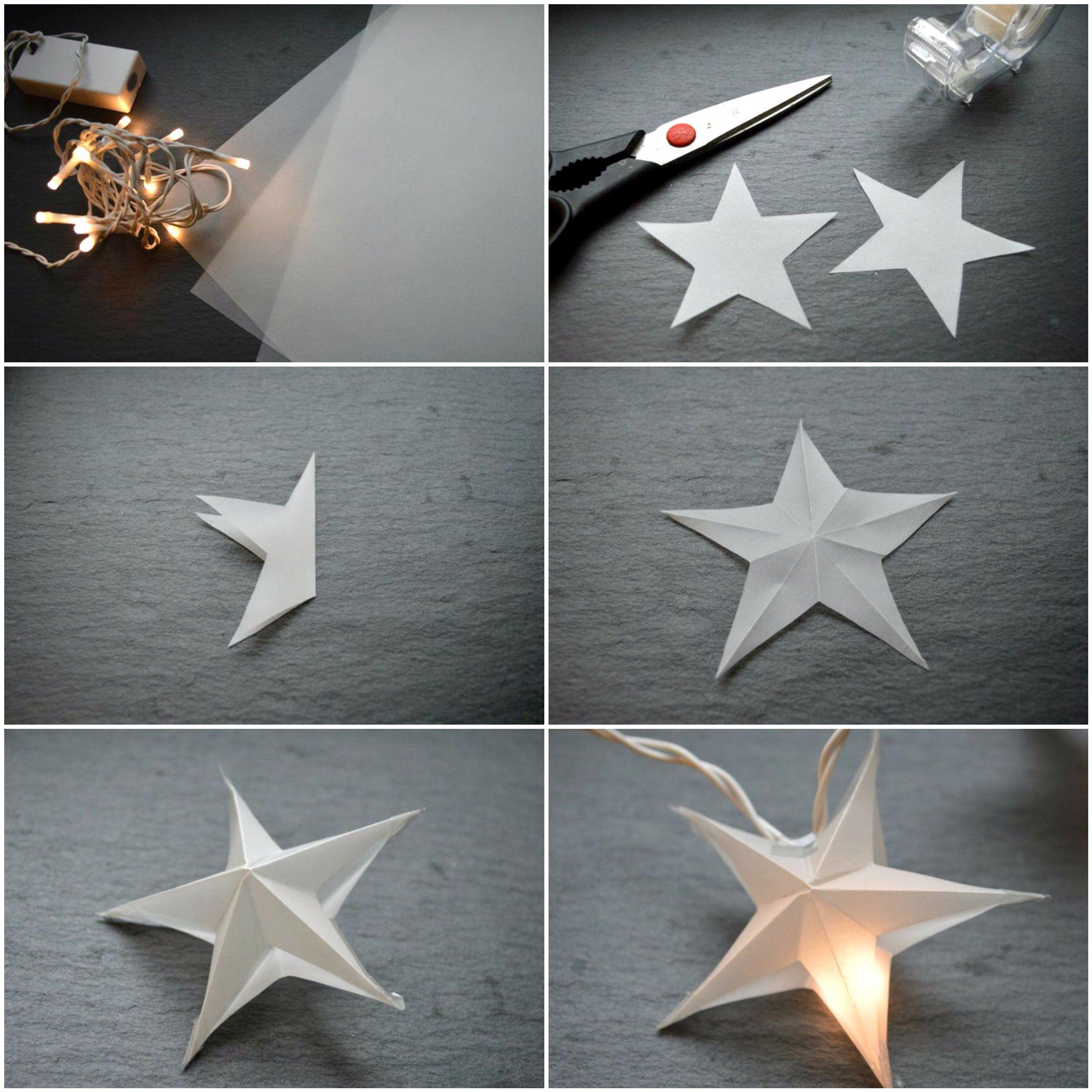 Sternen Lichterkette Lichterkette Basteln