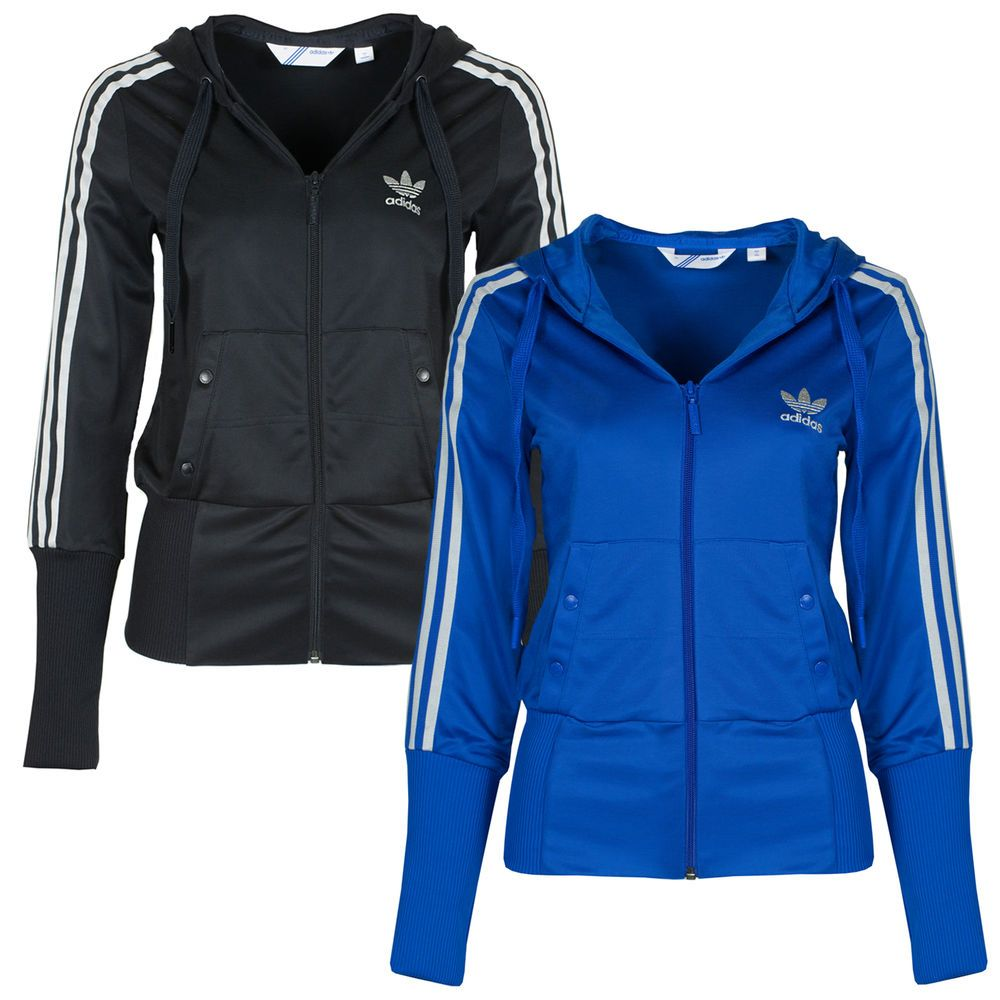 Adidas Originals Womens D Sleek Hoody Hooded Tracksuit Track Top