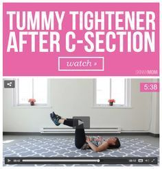 Tummy Tightener After C Section Video Workout Squat And Muscles
