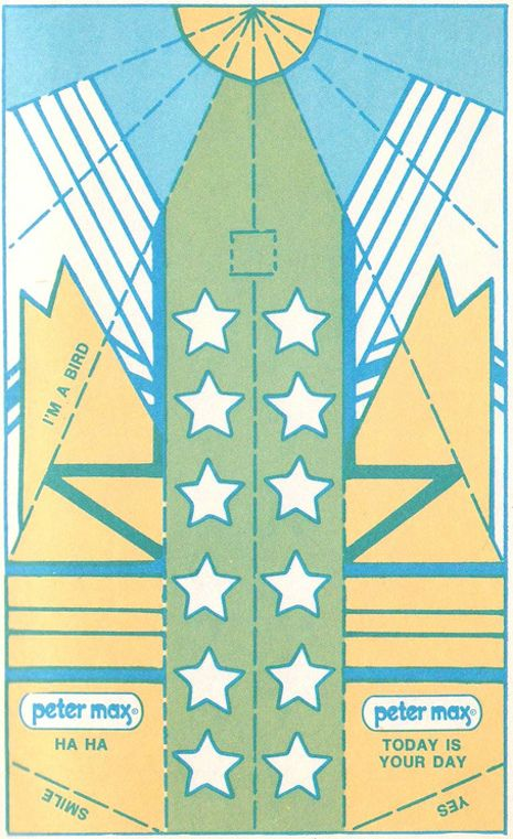 Peter Max's groovy pop art paper airplanes | Dangerous Minds