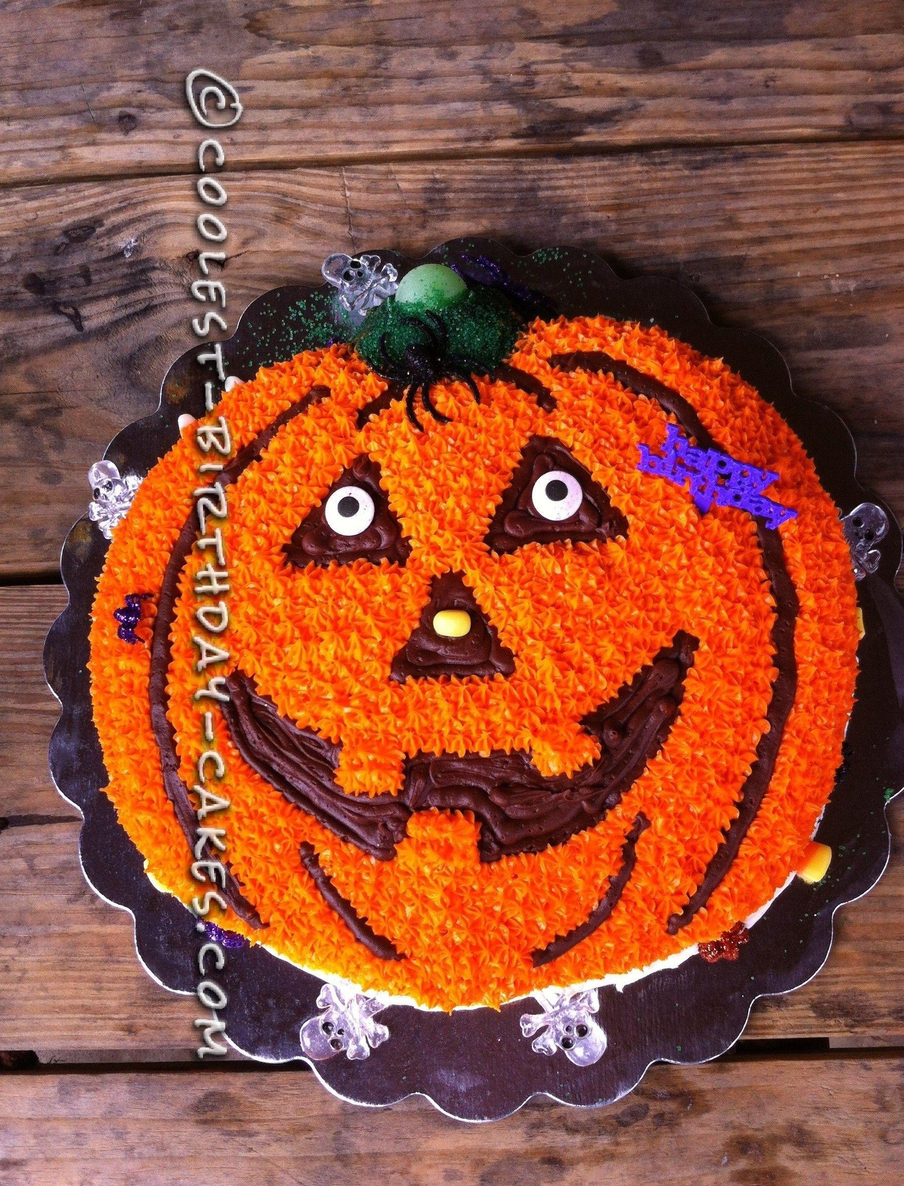 Pumpkin Birthday Cake Using The Wilton Pumpkin Cake Pan With