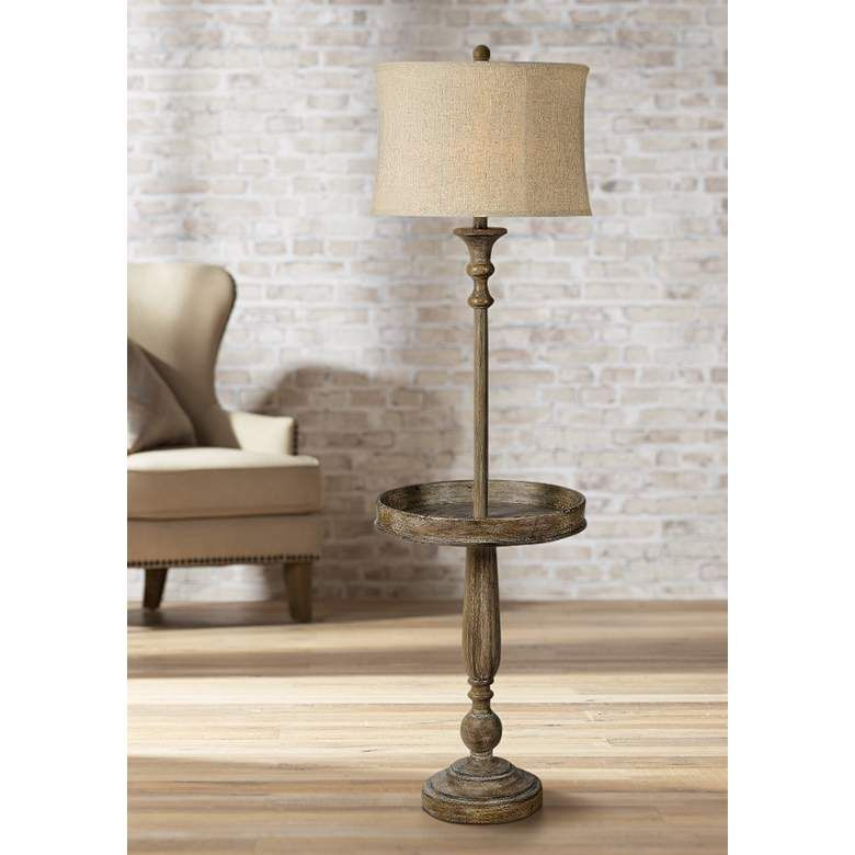 Forty West Grover Weathered Wash Floor Lamp 1y026 Lamps Plus With Images Floor Lamp Lamp Traditional Floor Lamps