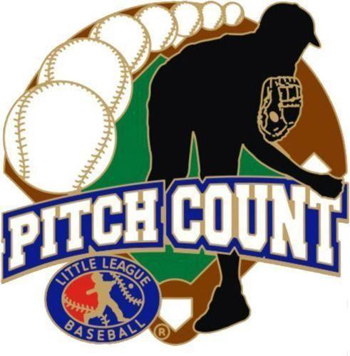 Little League Baseball Pitch Count 1 X 1 Www Wilsontrophy Com Baseball Pitching Little League Baseball Softball Pitching Machine