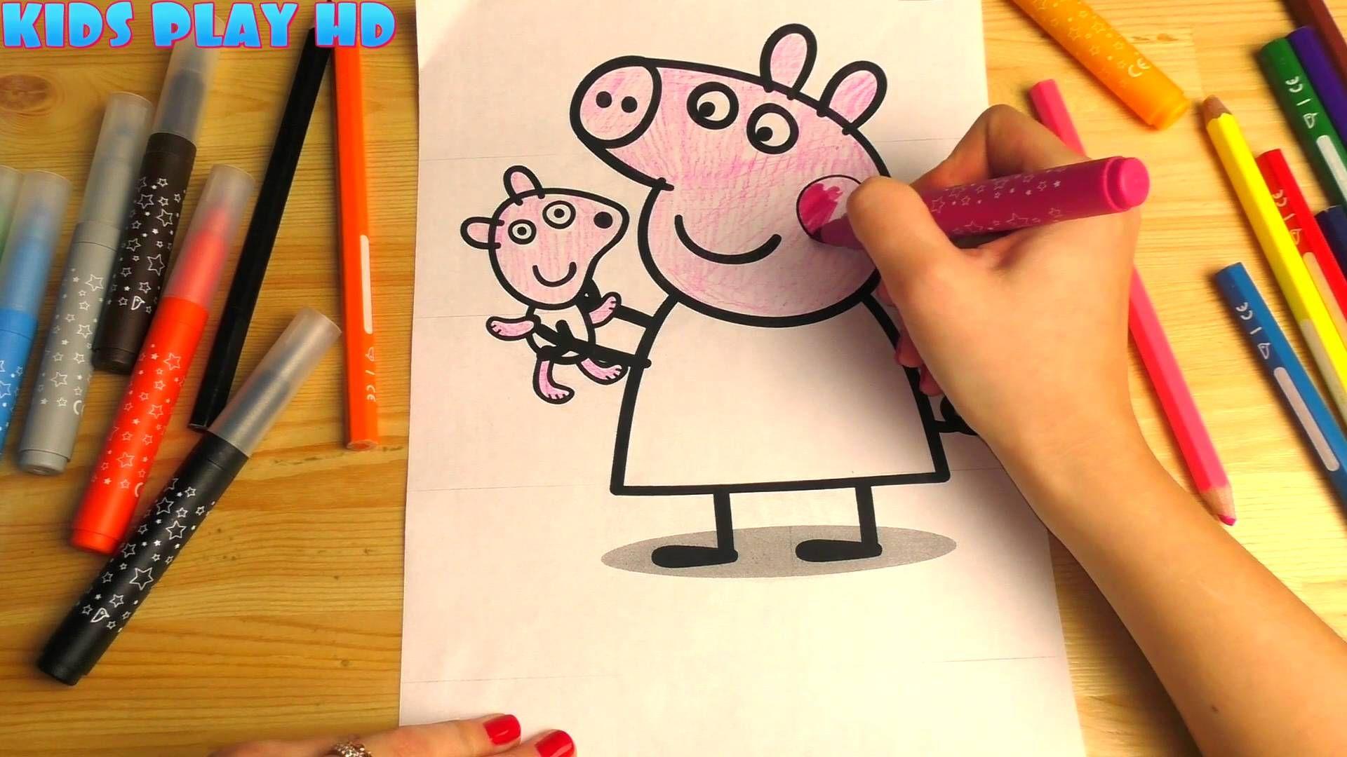 Peppa Pig Youtube Coloring Pages раскраски для детей