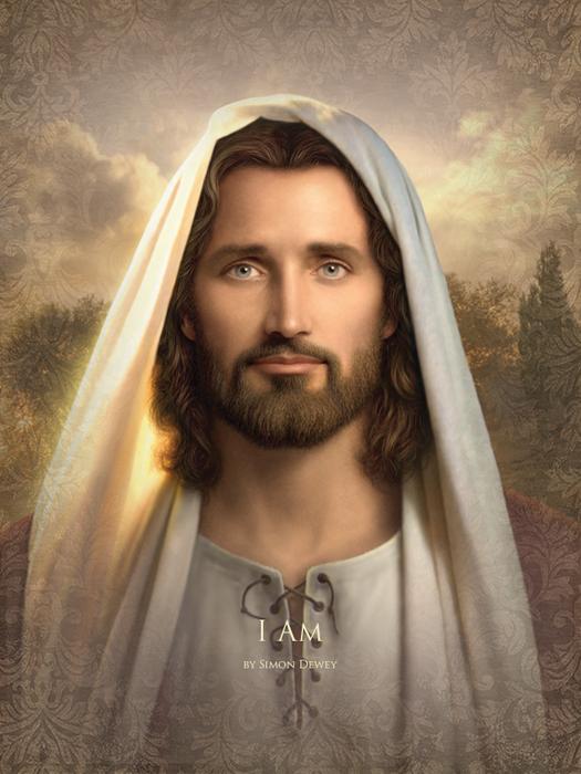 Simon Dewey I Am Png 525 700 Jesus Pictures Jesus Face Pictures Of Christ