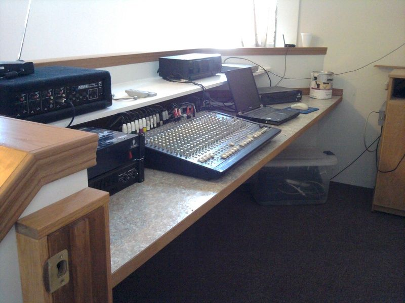 A simple sound booth design for a small to medium size
