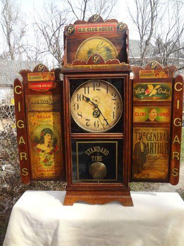 Antique Cigar Advertising Regulator Clock Ebay Vintage Clock Beautiful Clock Antique Clocks