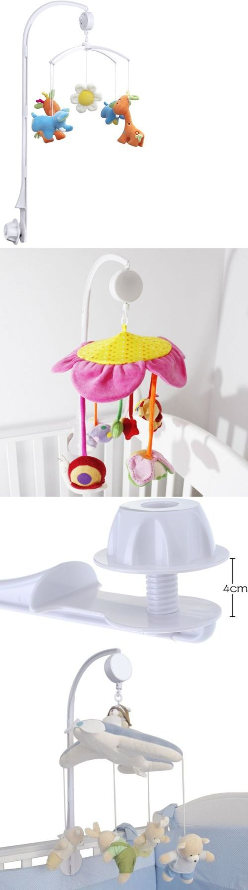 Baby Nursery Coutlet Baby Crib Mobile With Bed Bell Holder Arm