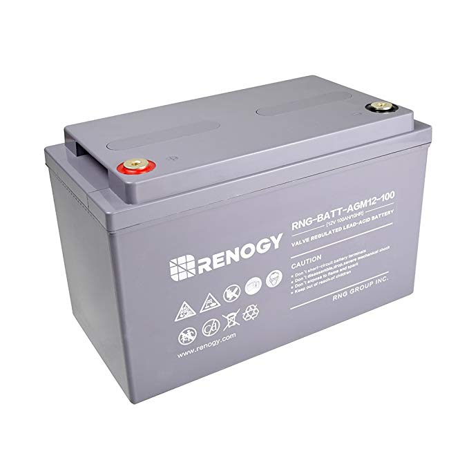 Amazon Com Renogy Deep Cycle Agm Battery 12 Volt 100ah For Rv Solar Marine And Off Grid Applications Electronics Battery Battery Shop Energy Storage