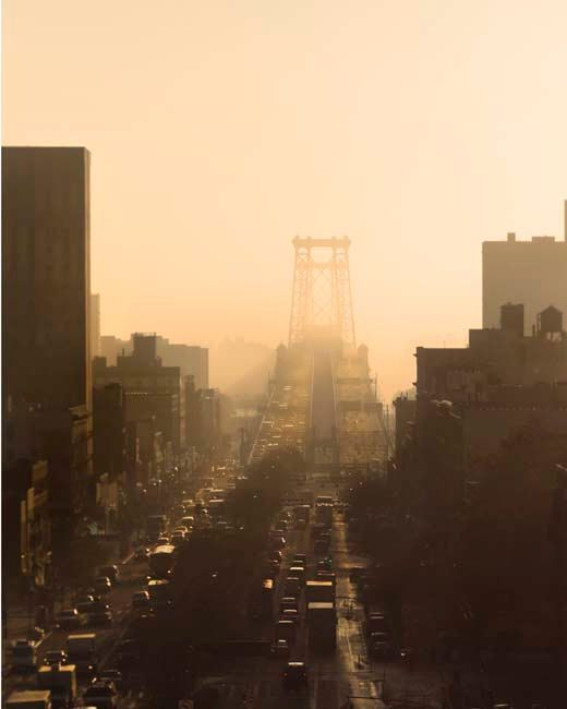 Williamsburg Bridge, Brown, Peach, Sepia, New York Photography, NYC ...