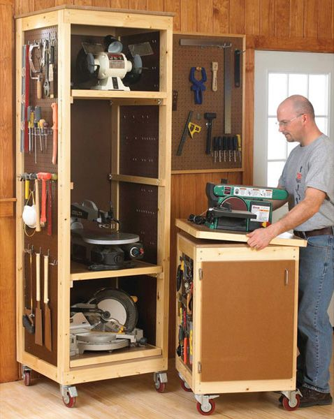 Bench-Tool System, Mobile Workstation Woodworking Plan, Shop Project Plan | WOOD Store