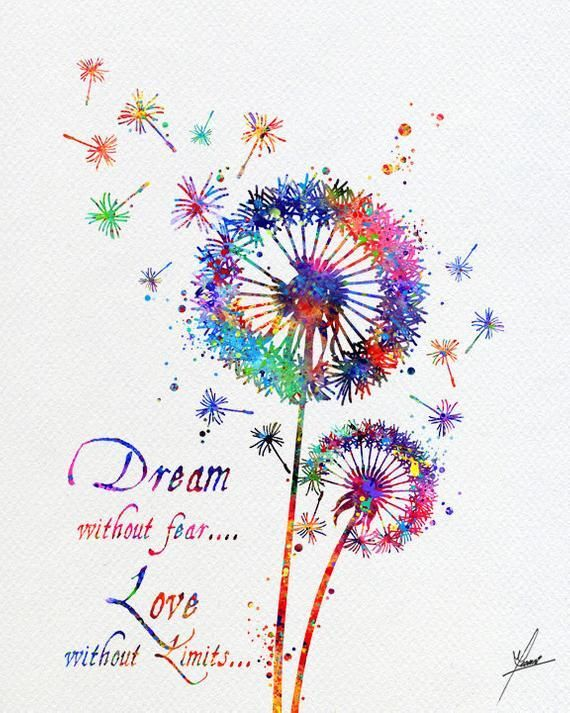 Photo of Dandelion Flowers Nature Love Watercolor Print Wedding Gift   Etsy – Healthy Skin Care