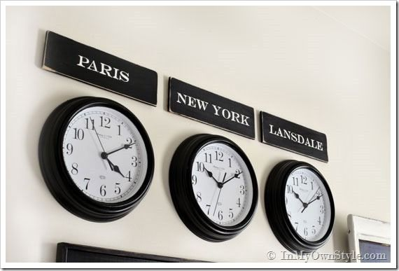 Decorating-with-clocks-and-City-names how to make city signs (San ...