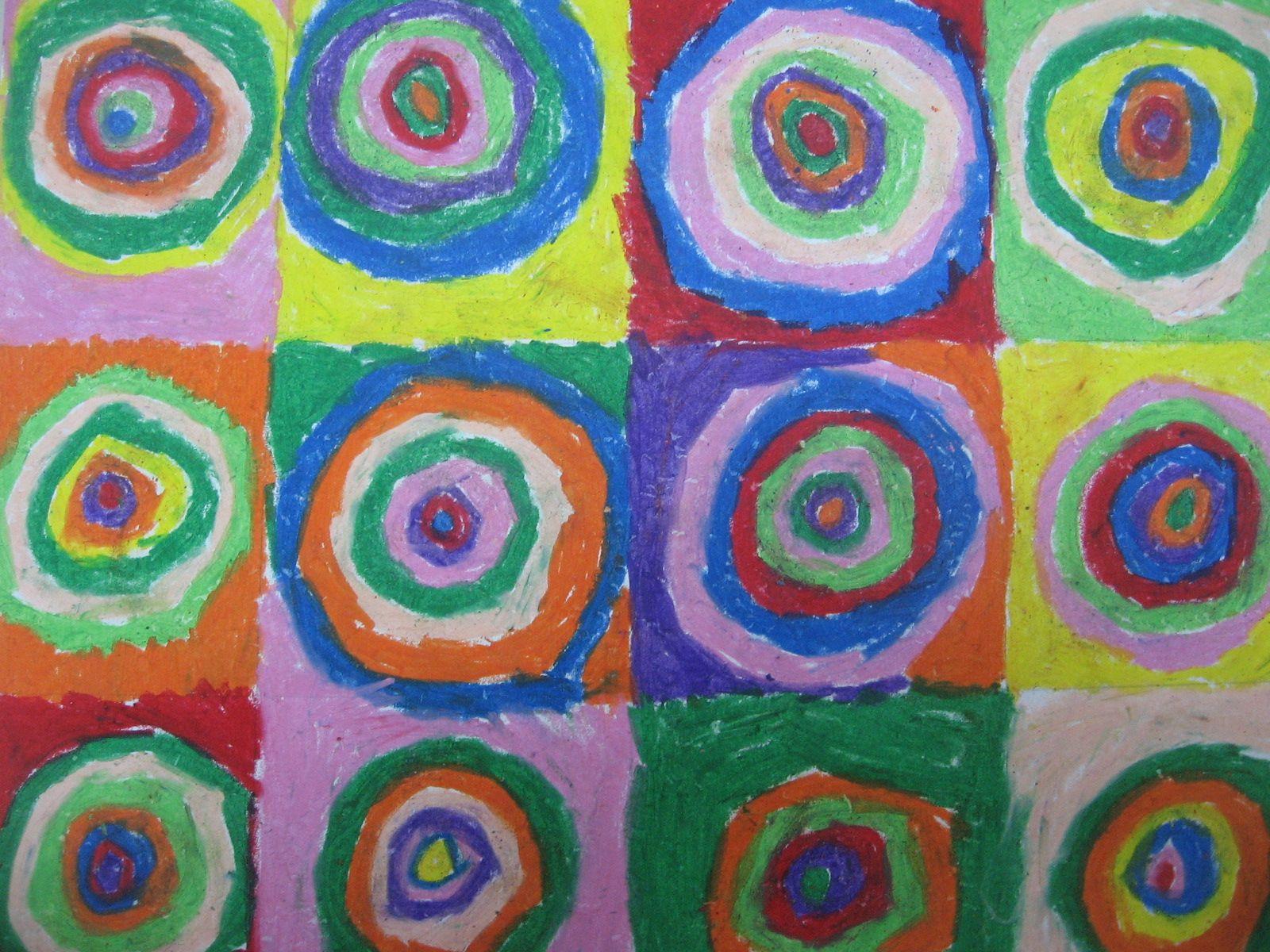 Circles Oil Pastels
