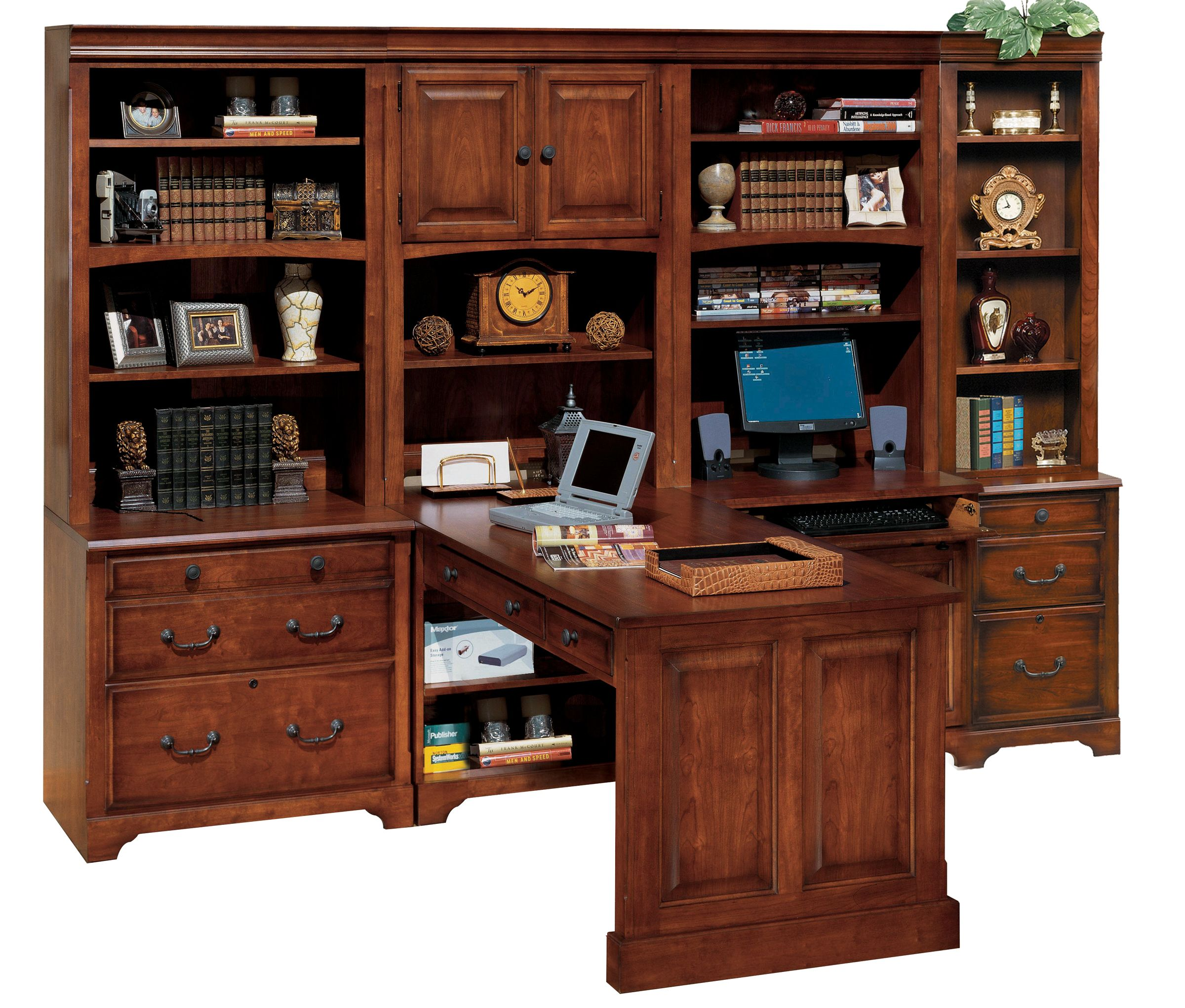 Peninsula Desk Wall Unit Winners Only Country Cherry Home