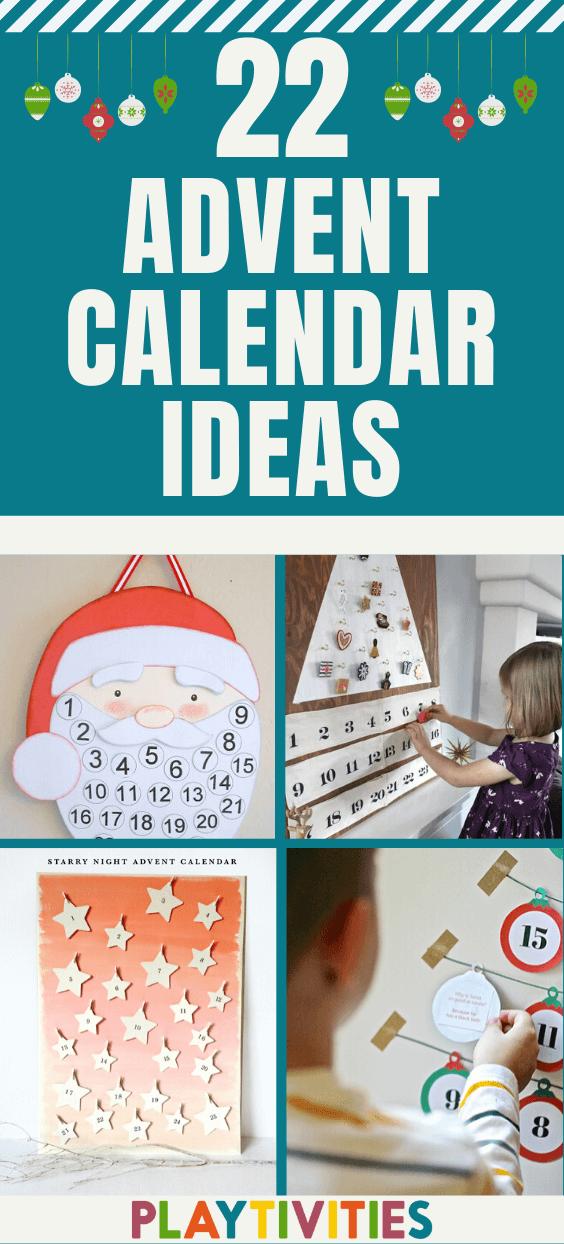 22 Diy Advent Calendar Ideas For Kids Fun And Creative Playtivities In 2020 Advent Calendars For Kids Christmas Diy Kids Diy Advent Calendar