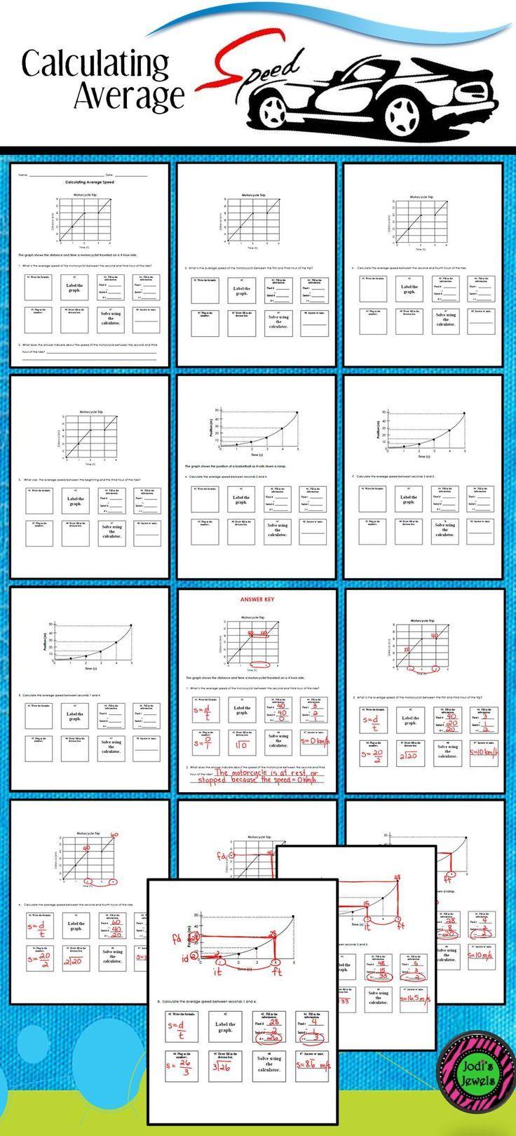 worksheet. Calculating Average Speed Worksheet. Carlos Lomas ...