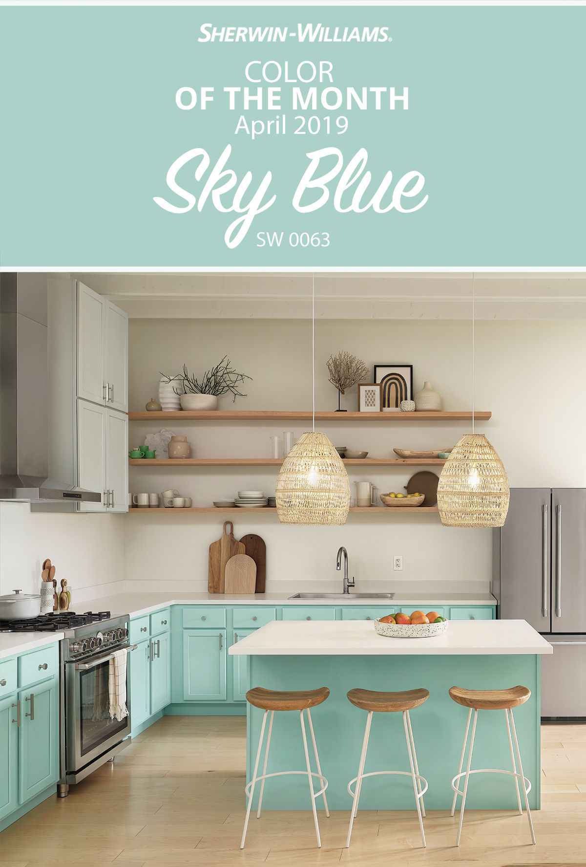 Dreaming Of Painting Your Kitchen Cabinets Make It A Reality With Our April Color Of The Month S Blue Kitchen Decor Kitchen Decor Kitchen Cabinet Inspiration