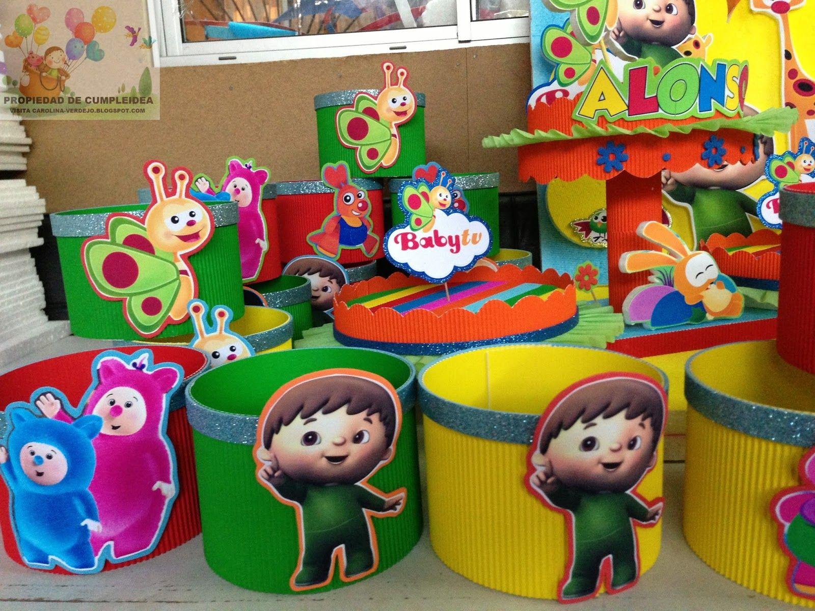 cotillon para cumpleaños de baby tv  dd4a98993bf56