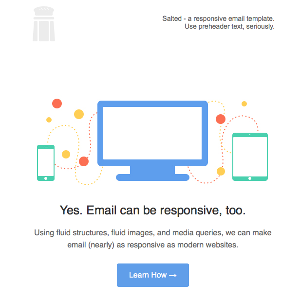 A Responsive Email Template Stacked Tables Robust Images - Open source email templates