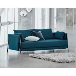 Photo of smart design sofa bed purple – woven fabric Adina ¦ purple / violet ¦ Dimensions (cm): W: 204 H: 90 D: 92 upholstery – pickndecor / home