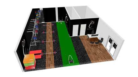 3d Gym Design Of Chrysalis Fitness Lab Corby Projeto De Academia Em Casa Decoracao De Academia Sala De Academia Em Casa