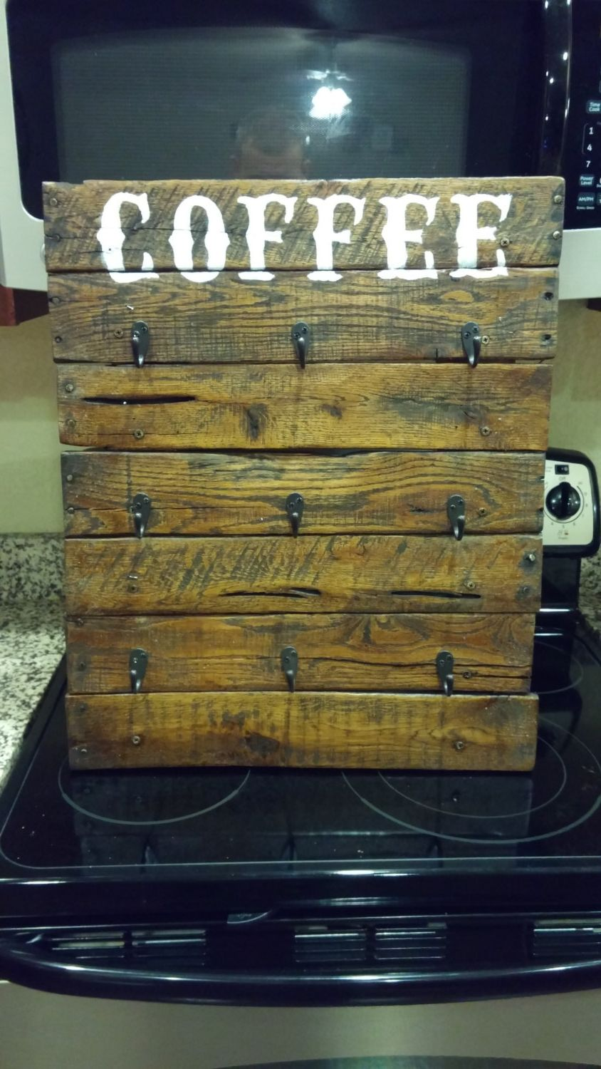 Pallet Coffee Cup Holder By Ytimecrafts On Etsy