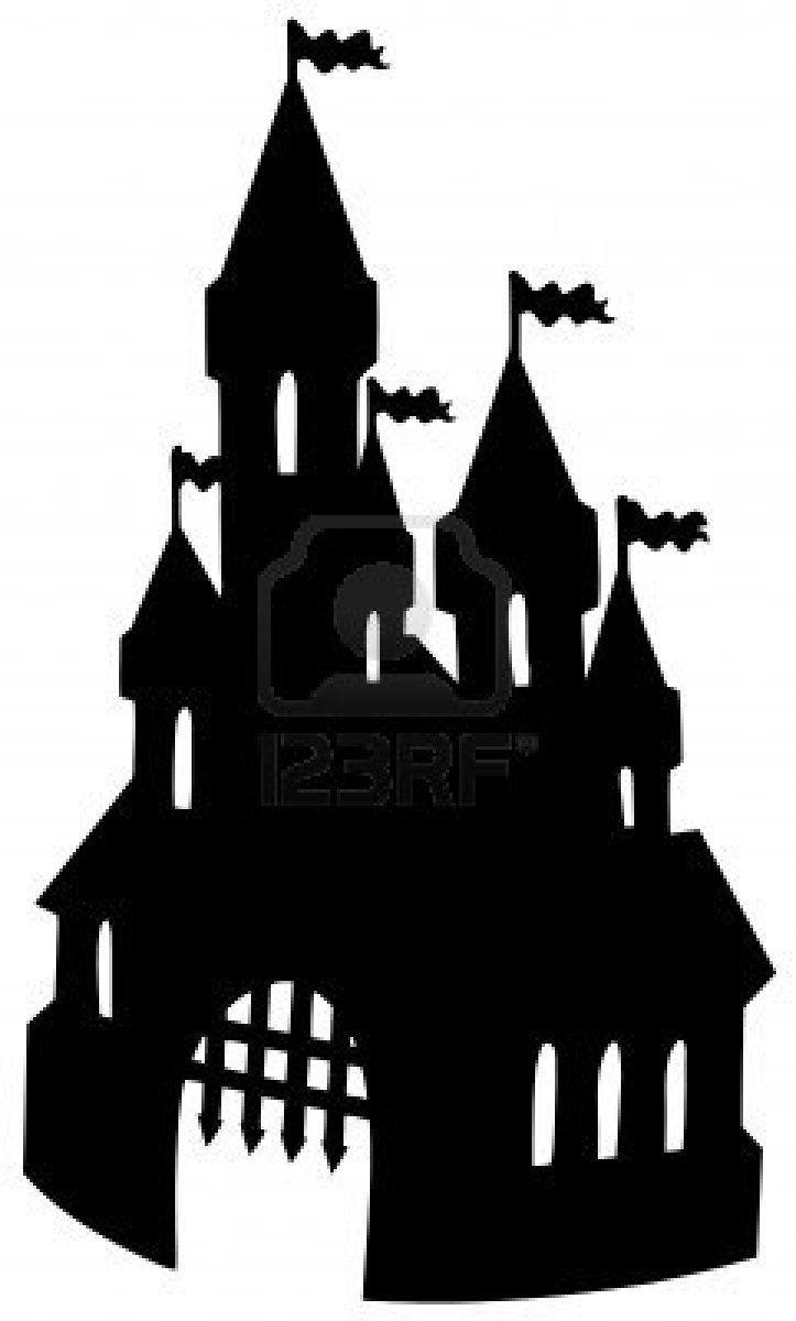 old castle silhouette vector illustration stock photo 6579467