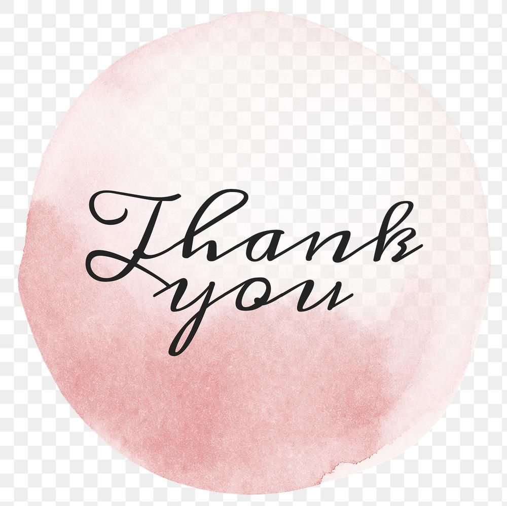 Thank You Calligraphy Png On Pastel Pink Free Image By Rawpixel Com Ningzk V Pink Watercolor Png Pastel Pink
