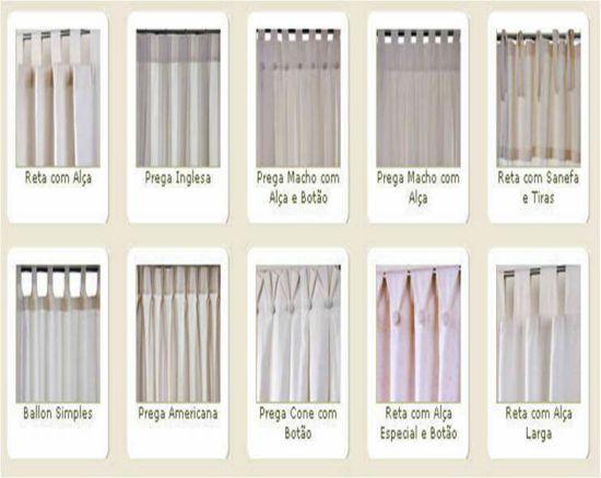 Cortina prega americana bast o sui o pesquisa google - Tipos de cortinas modernas ...