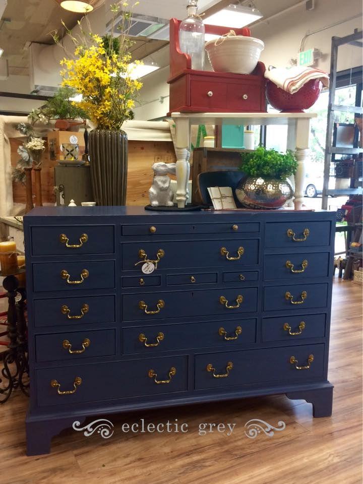 Rena Madison Painted This Amazing Lexington Dresser In Dixie Belle Paint Yankee Blue