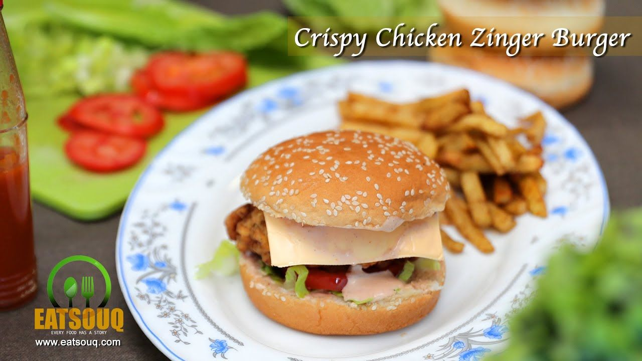 Spicy Crispy Chicken Zinger Burger Recipe At Home Chicken Zinger Burger Crispy Chicken