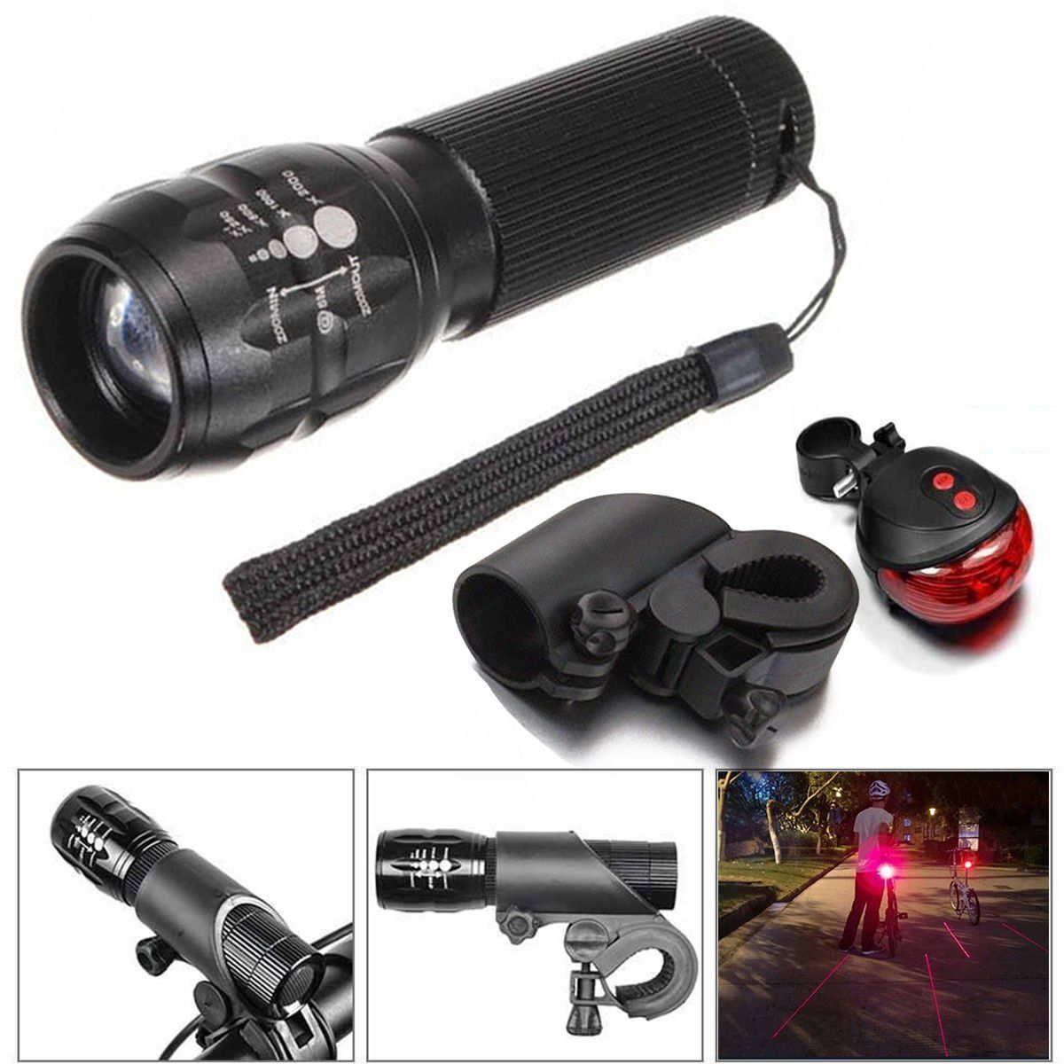 2 29 Aud 9000lm Q5 Led Zoom Bike Bicycle Head Light Front