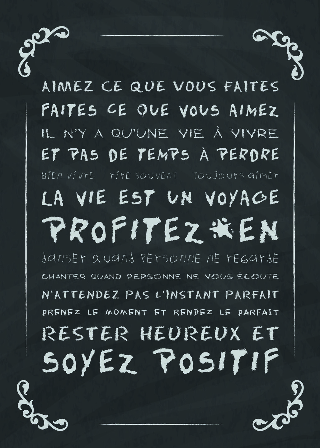 affiche d co texte vivre sa vie maison pinterest quote citation quotes et wonder quotes. Black Bedroom Furniture Sets. Home Design Ideas