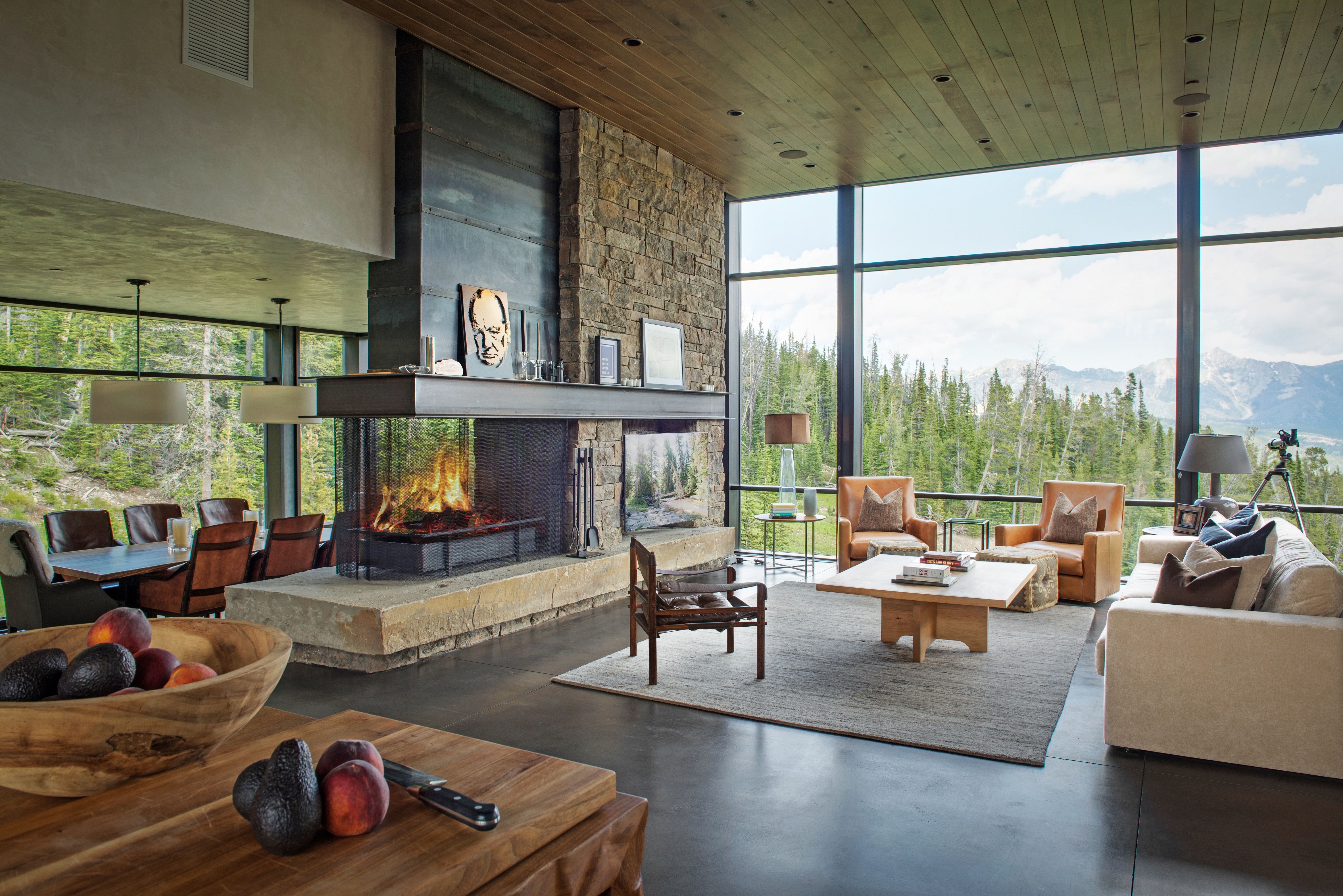A Modern Mountain Home In Montana Is For Sale For 7 Million Modern Mountain Home Modern House Design Home