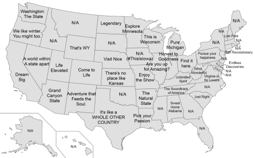 US states tourist sites slogansRelated Every The Power Of