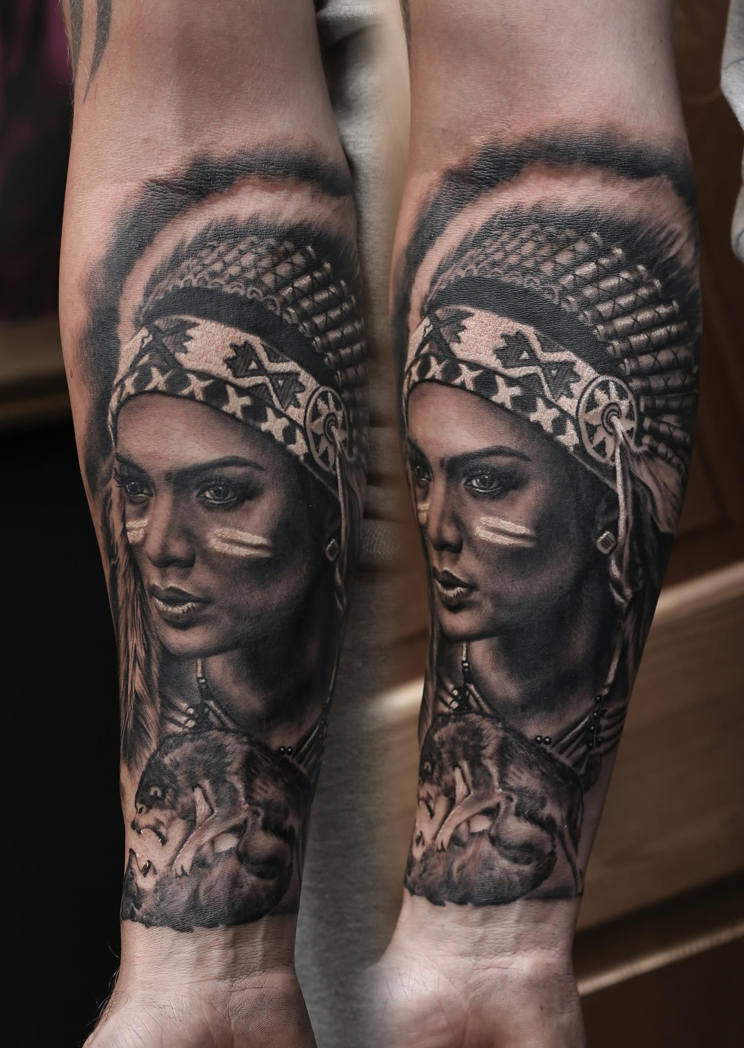 Indian Lady Tattoo Artist Mindy Artist Mindy Www Holytrinitytattoos Co Uk Holytrinity Native American Girl Tattoo Native American Girls Girl Tattoos