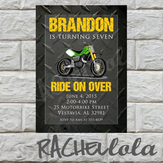 motorbike birthday invitation  do