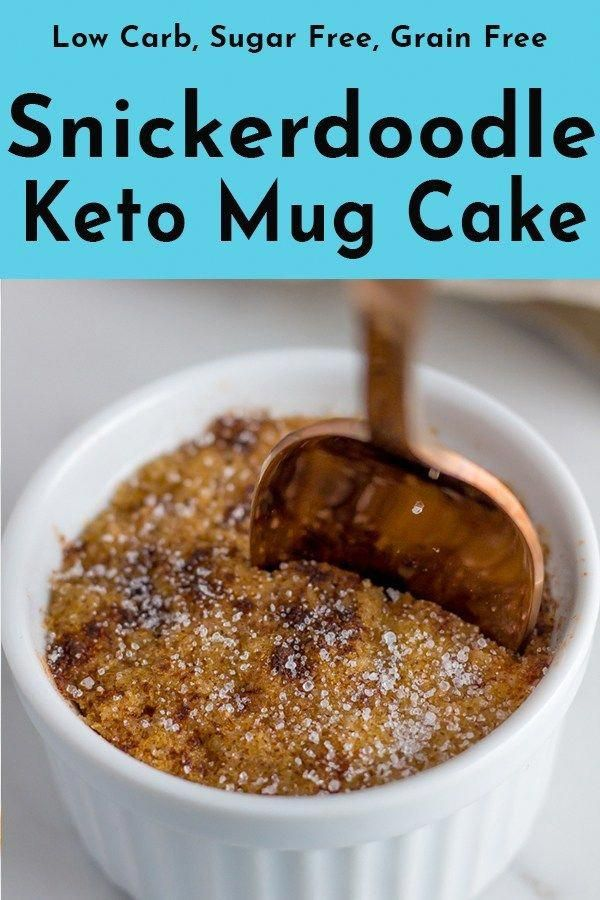Easy keto mug cake made with coconut flour and almond ...
