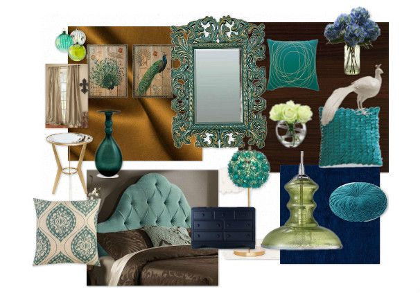 Peacock Themed Inspiration Board For My Bedroom Master Bedroom Inspiration Turquoise Living Room Decor Peacock Bedroom