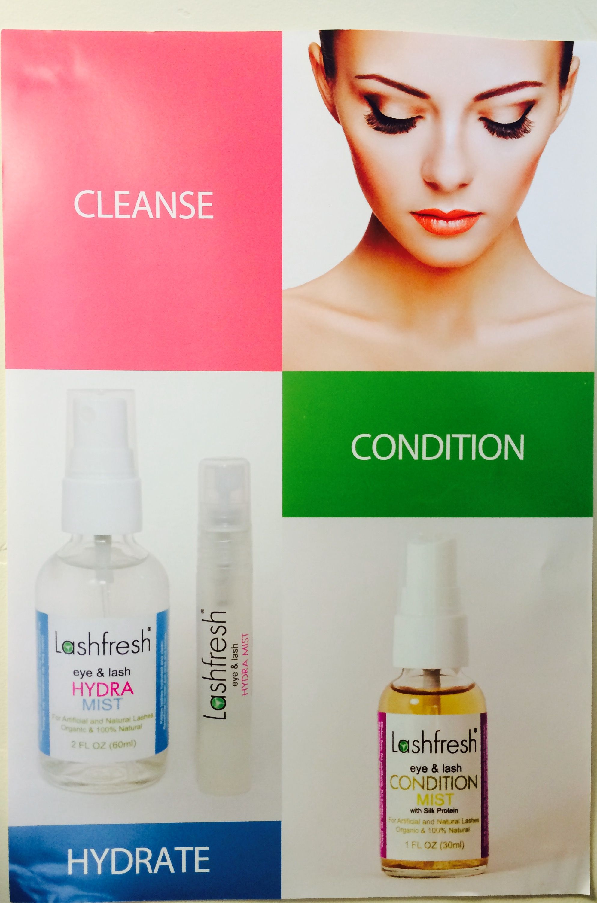 All organic and natural eyelash extension aftercare line