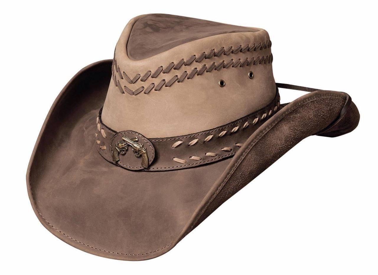 4a048bcc0 Details about Montecarlo Bullhide Hats ROYSTON Top Grain Leather ...