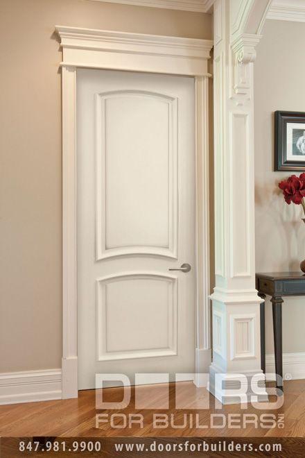 Mdf powder room door ecco doors paint grade custom for Contemporary trim profiles