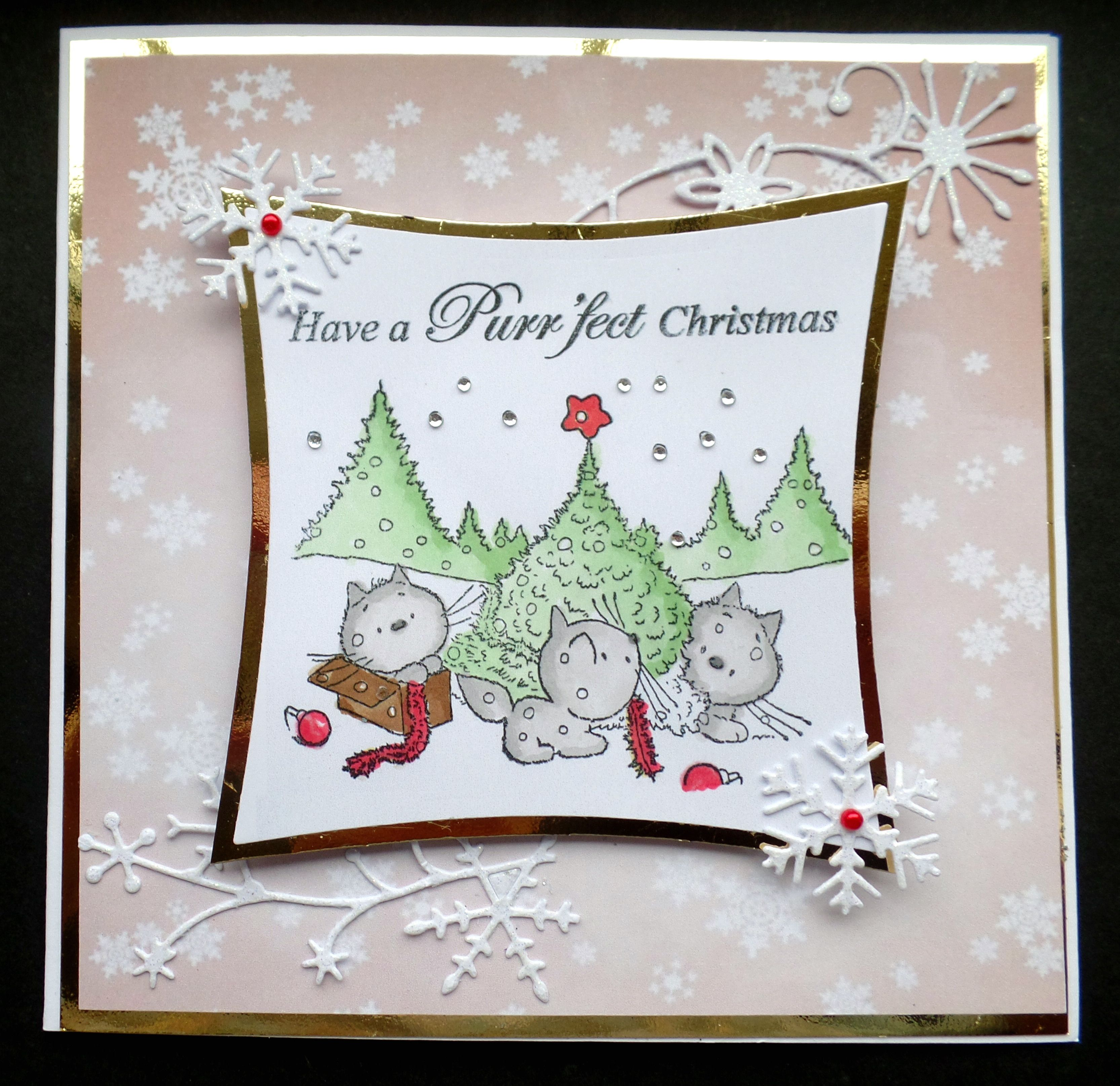 Hand made christmas card using mulberry wood stamp and snowflake hand made christmas card using mulberry wood stamp and snowflake background kristyandbryce Gallery