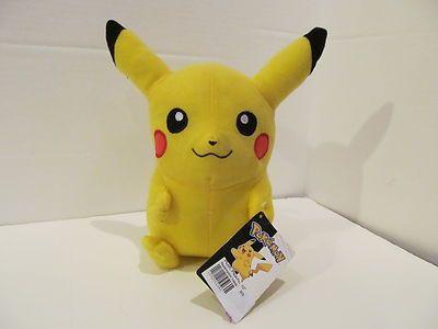 "Pikachu Plush Toy 10"" New with Tags | eBay"