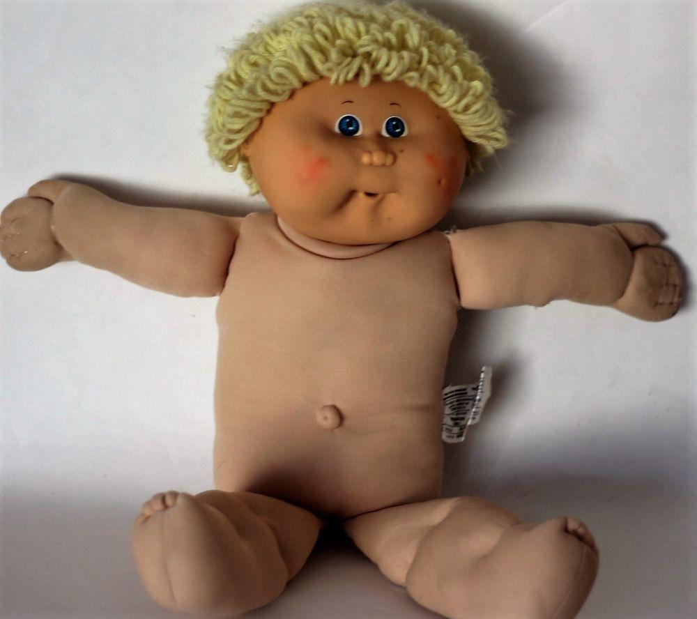 CABBAGE PATCH Dimple Face Boy Blond Short Hair Blue Eyes 1982 68L ...
