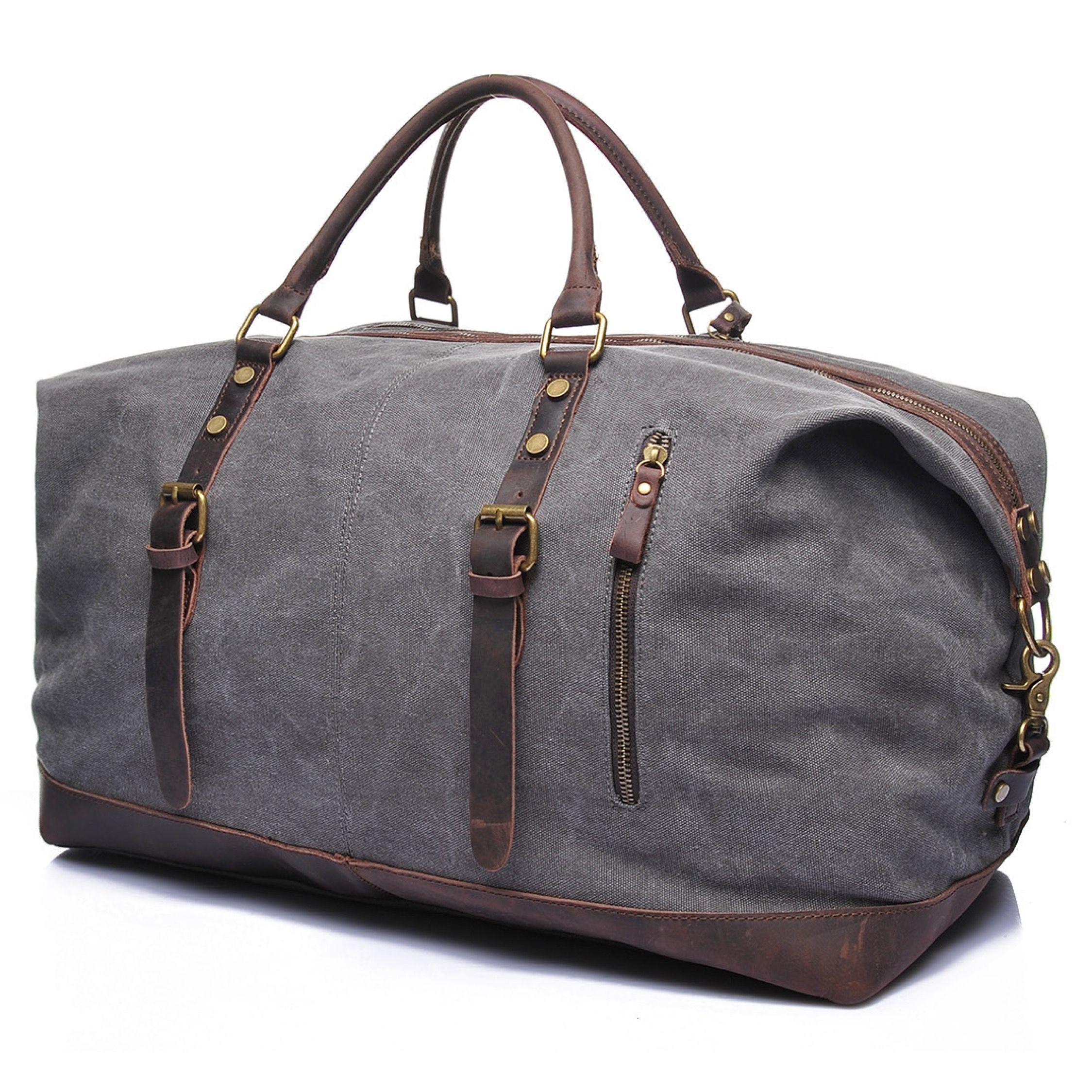 Magnus Duffle Bag Grey Weekenders Travel