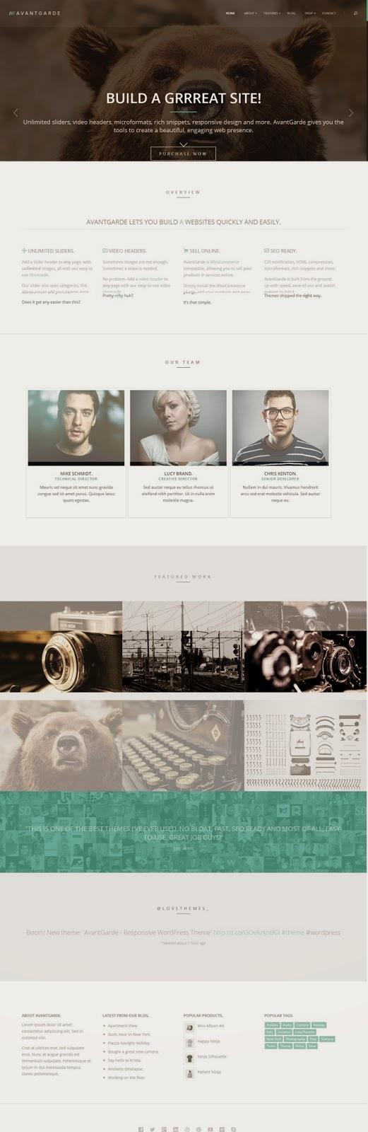 AvantGrade Responsive WordPress WooCommerce Theme #webdesign #website
